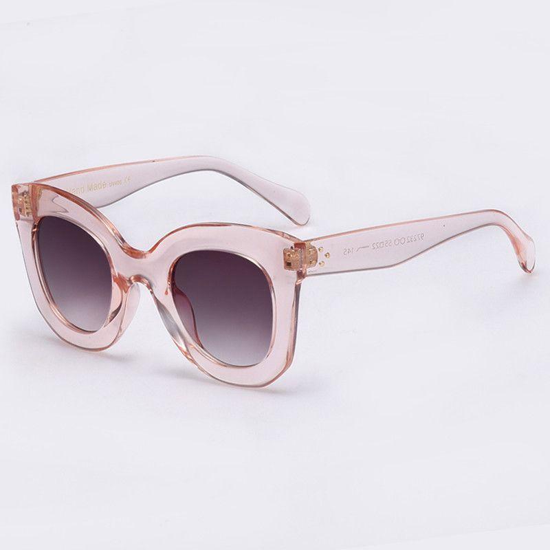 2017 Fashion Sunglasses Women Designer Sun glasses Female Rivet Shades Big Frame Style