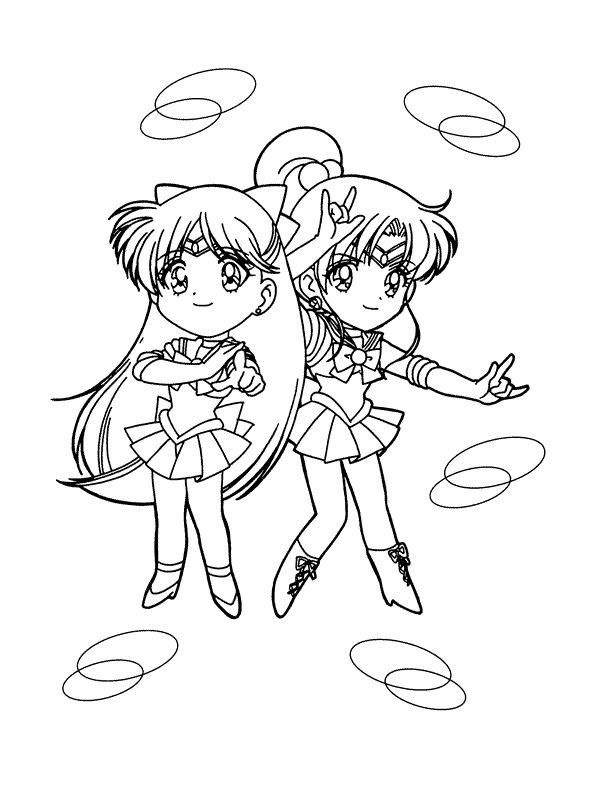 Kleurplaat op Kids-n-Fun   Coloring Sailor Moon * Sailor Scouts ...