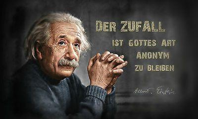 Leinwand Oder Poster Albert Einstein Gott Bleibt Im Zufall Anonym Wirkungsvoll Ebay Spruche Einstein Einstein Zitate Albert Einstein Zitate