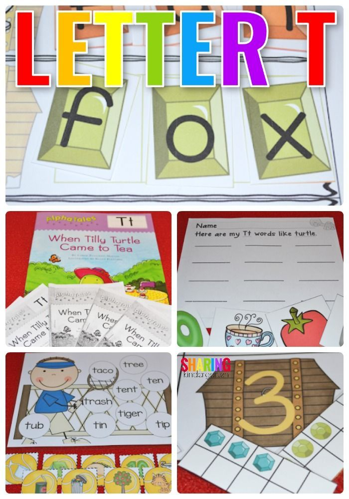 Letter T Alphabet and Phonics activities