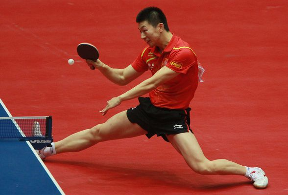 Ma Long In Action Table Tennis Tennis Team Ma Long