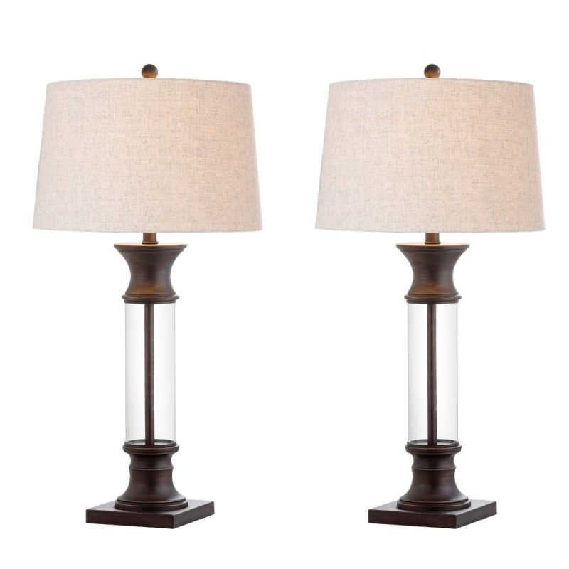 Jonathan Y Lighting Jyl4000a Set2 Hunter Single Build Com In 2021 Table Lamp Sets Table Lamp Metal Table Lamps