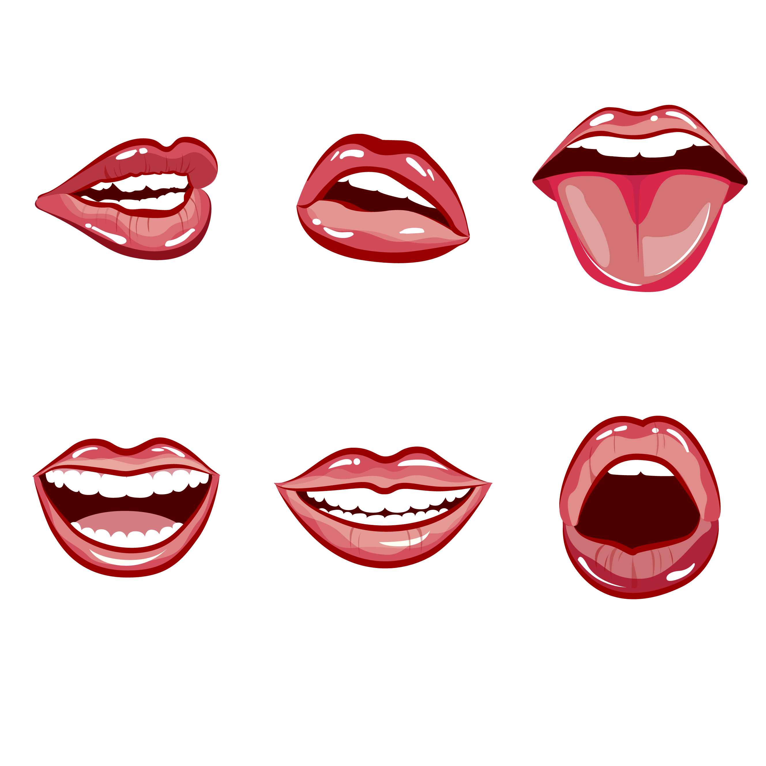 Happy Laughing Female Mouth With Red Lips By 09910190 Thehungryjpeg Com Sponsored Female Sponsored Mouth Happy Laughing Red Lips Female Lips