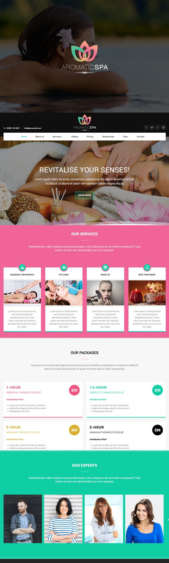 Aromatic Spa - HTML5 Template. Bootstrap Templates. $12.00 ...