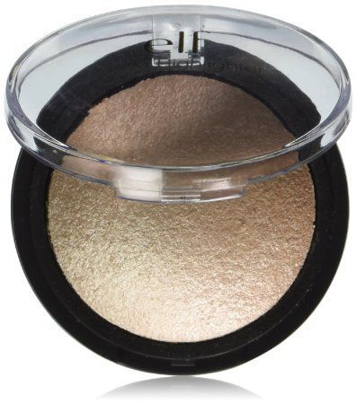 e.l.f. Baked Highlighter, Moonlight Pearl, 0.17 Ounce  This great for highlighting or strobbing.   #affiliate