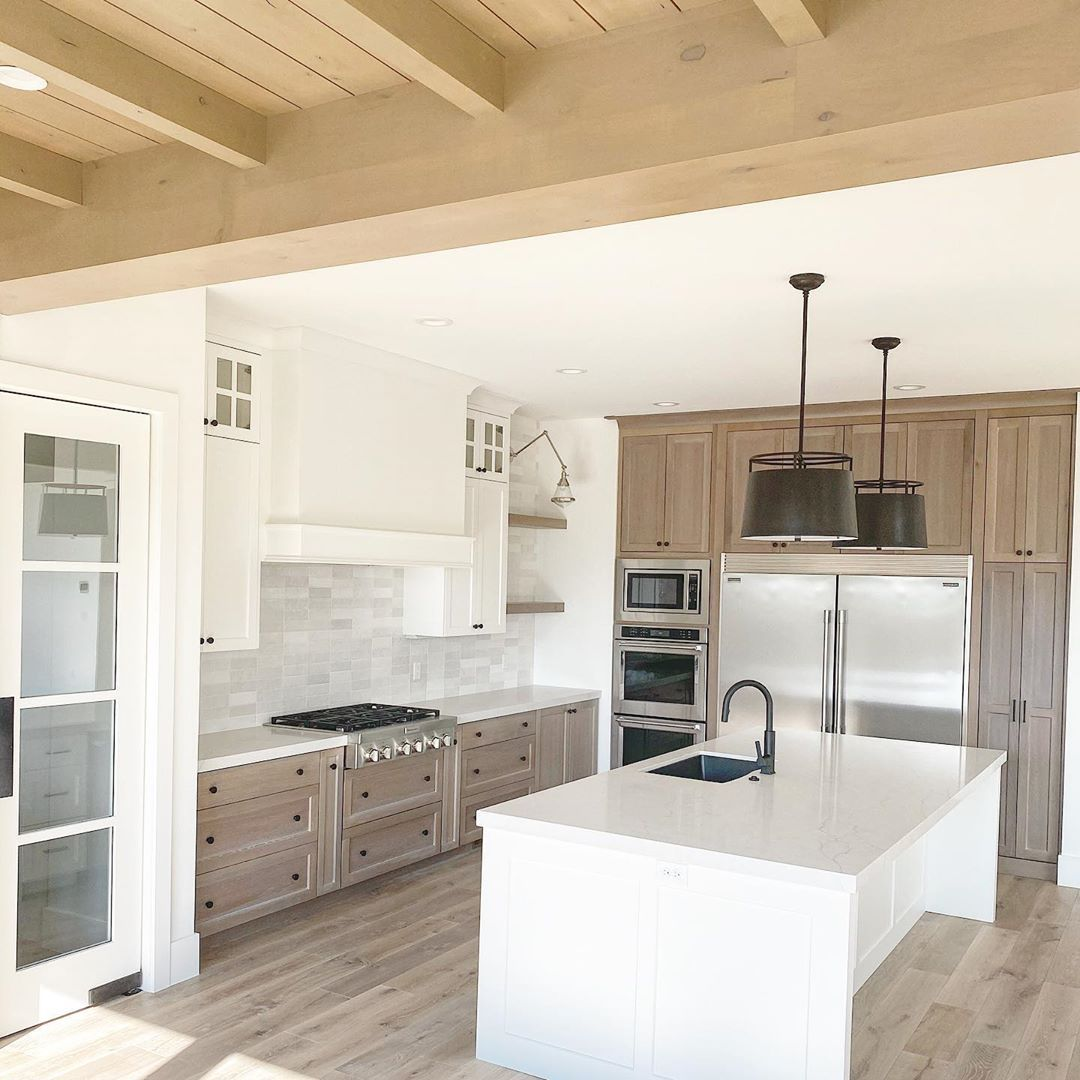 """Millhaven Homes on Instagram: """"Finishing out the kitchen on this home. . . . . . . . . . #millhavenhomes #utahhomes #utahbuilder #customhomes #designbuild #kitchengoals…"""""""