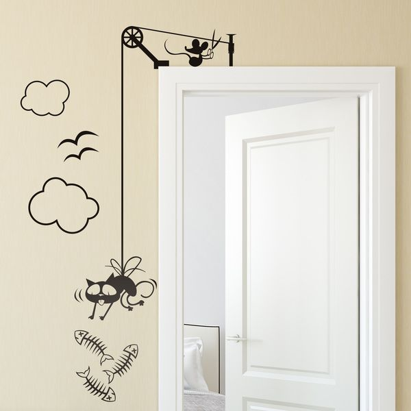 Adesivi murali Cartoon kit #decorazione #vinile #porta ...