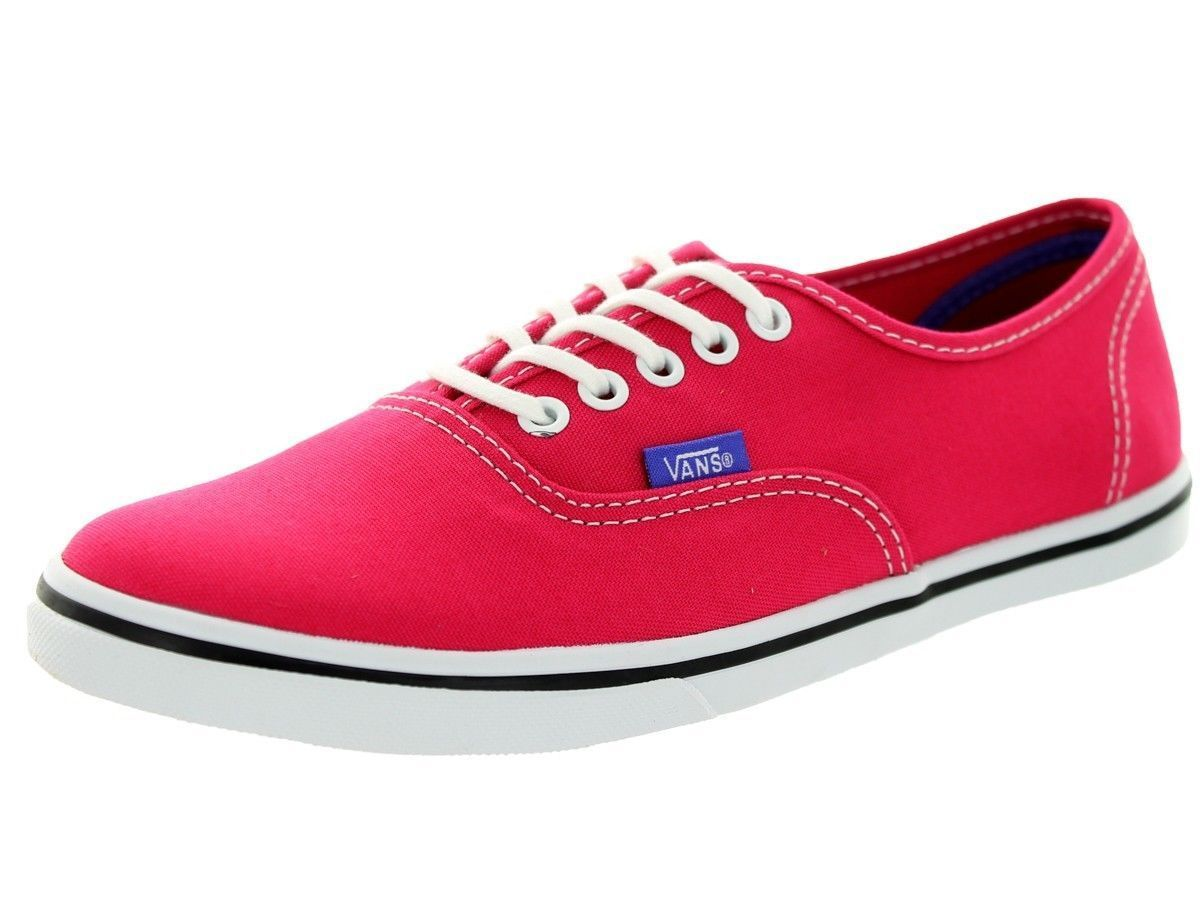 0f1b45ac408 Vans Authentic Lo Pro Rose Red purple Iris Womens Trainers - Red ...