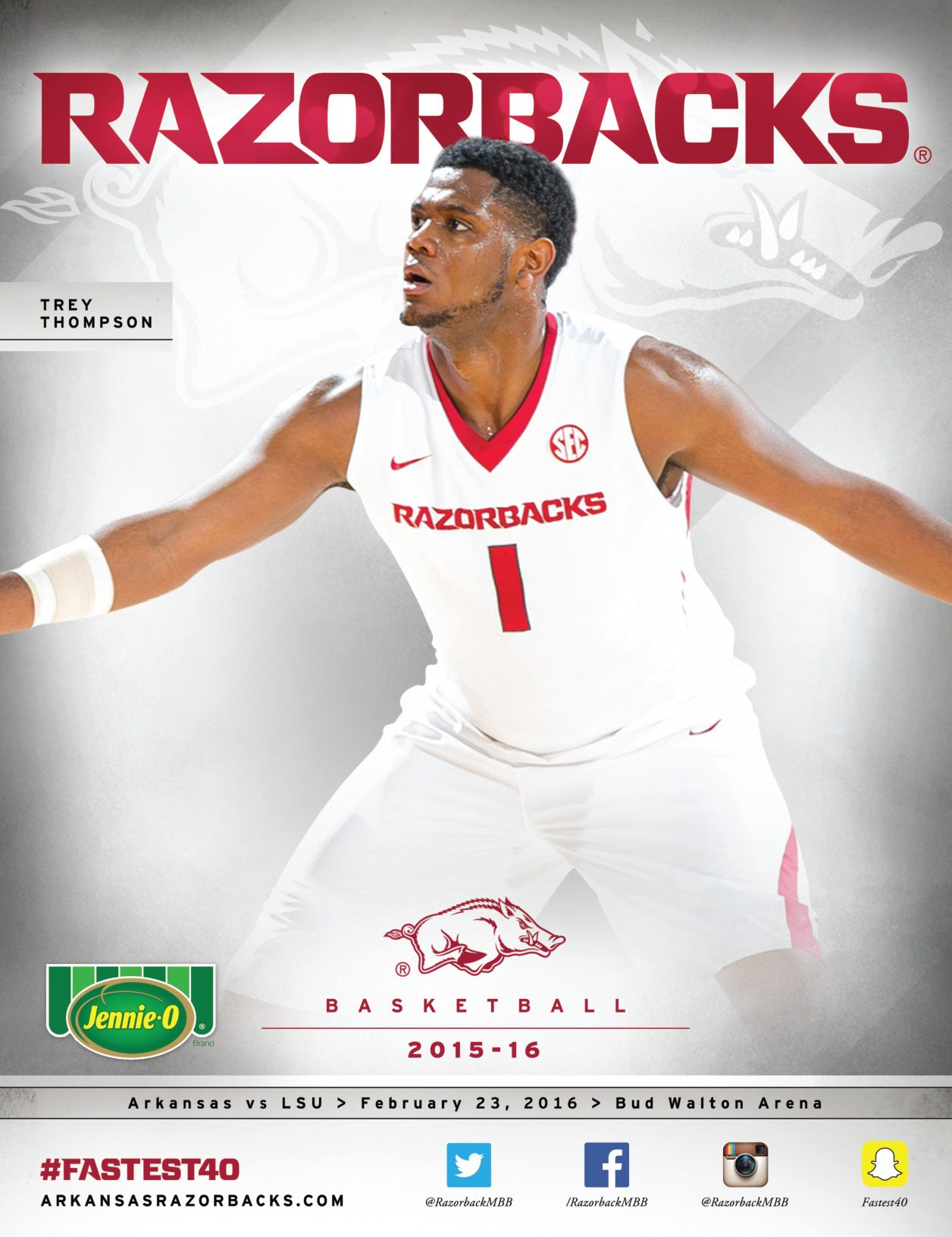 The official 201516 Arkansas Razorbacks Men's Basketball