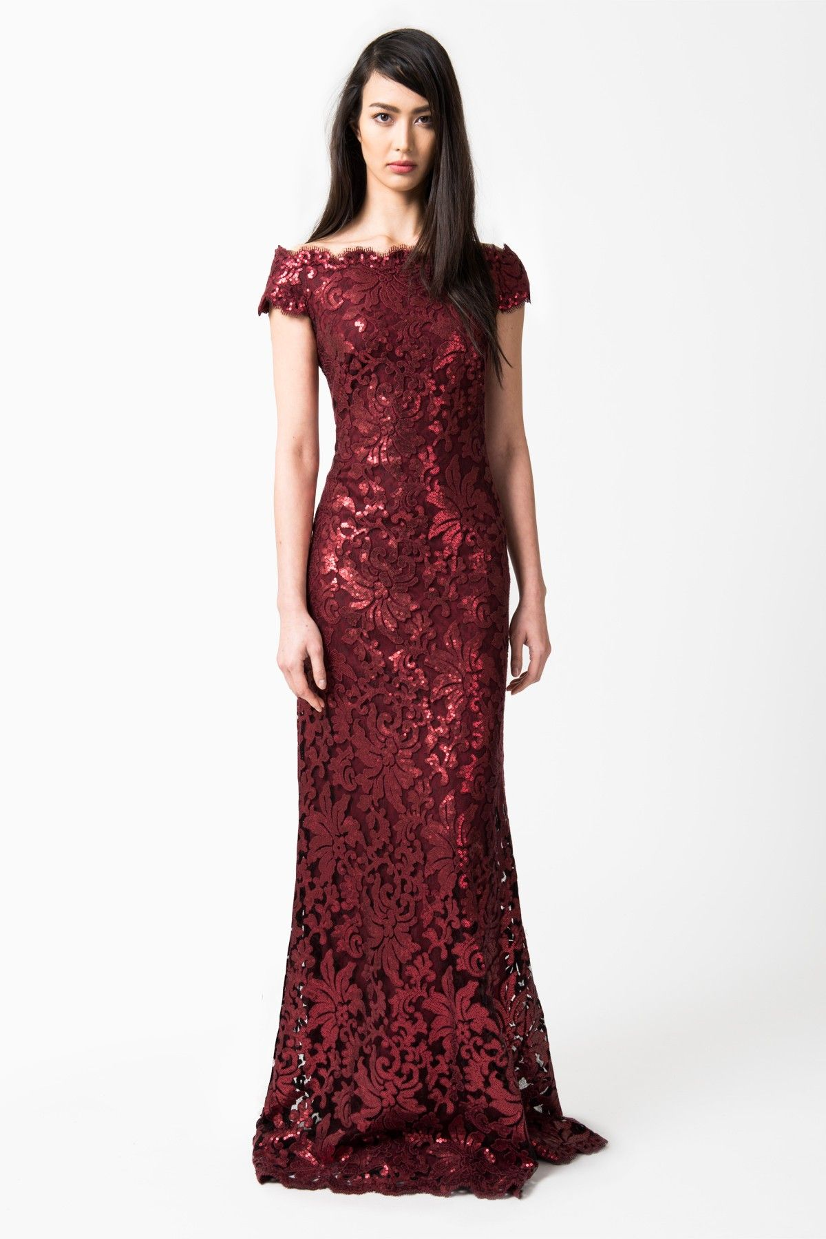 Merlot Lace Cocktail Dress