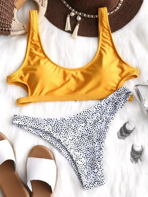 478db8d2efd ... Buy Spring Summer 2018 Swimwear Trends Women s Sexy Leopard Style Cut  out U Neck Padded Bikini Set Beachwear on Sale by PesciModa Details  -  Swimsuit ...