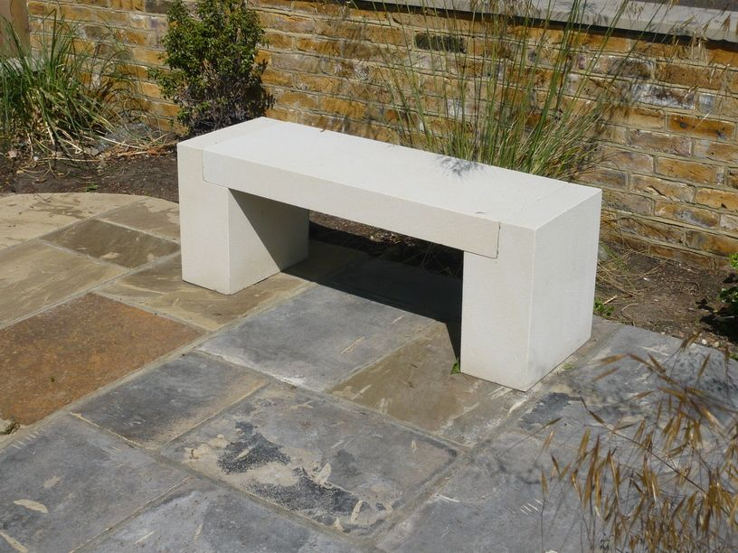 Limestone Bench Part - 32: London Stone - London Stone Furniture - Stone Benches - Beige Sandstone 3  Piece Bench
