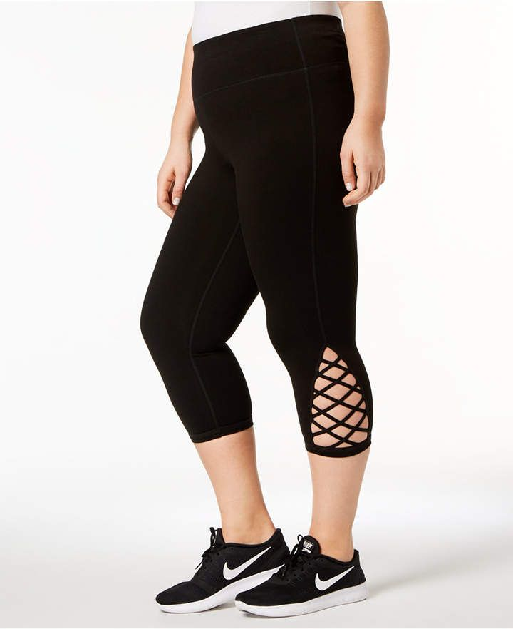 56d03d0ae56fd Ideology Plus Size Cutout Cropped Leggings in 2019 | Products ...