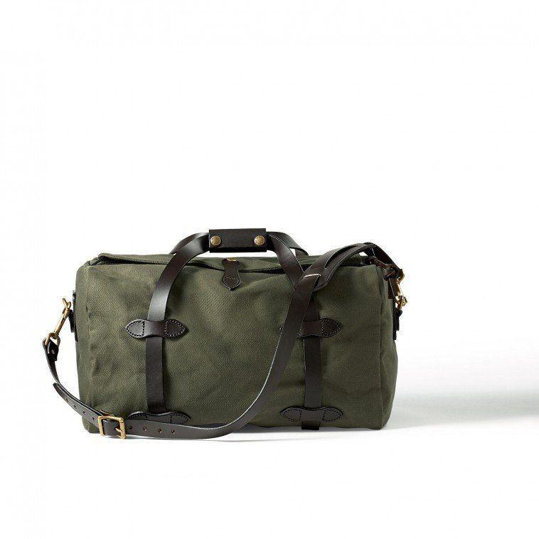Sac weekend / sac de sport en cuir vert olive 8PgGIEQrY