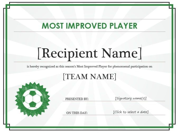 Soccer Certificate Stationary Templates Pinterest - soccer certificate template