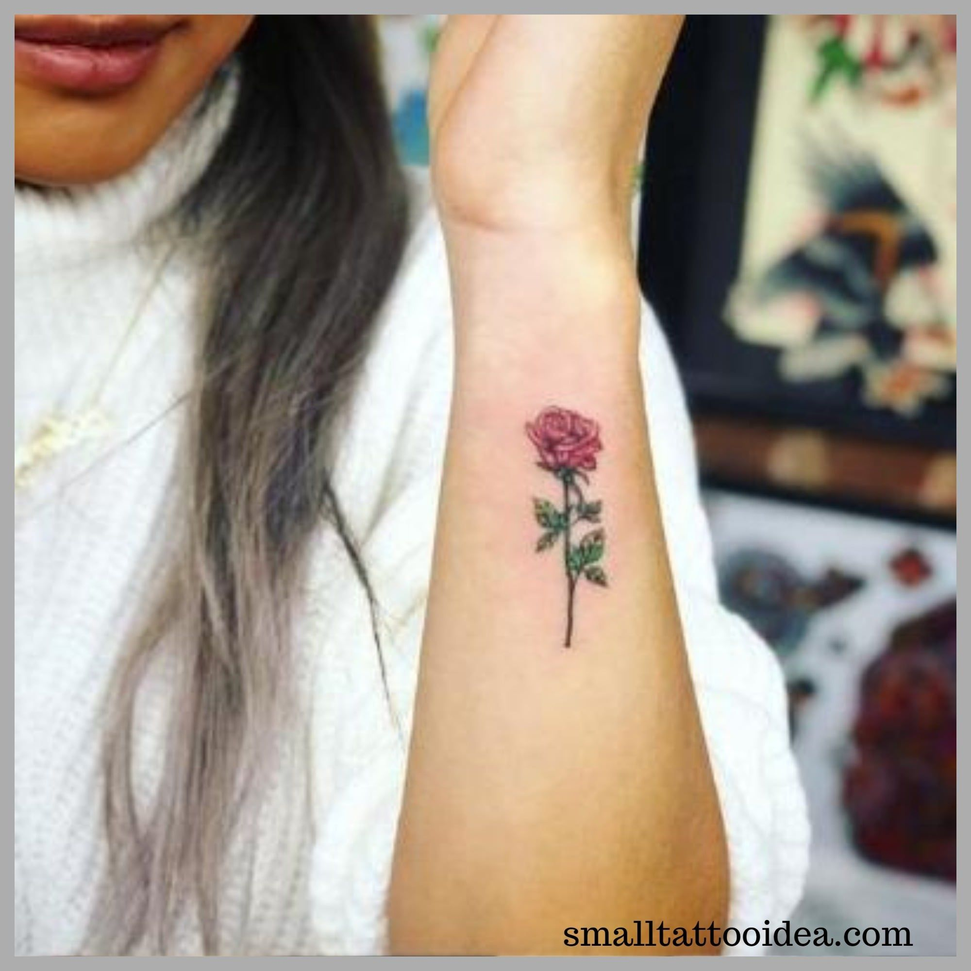35 Small Red Rose Tattoo Ideas For Girls Tattoo Small Tattoos Rose Tattoos Tattoos