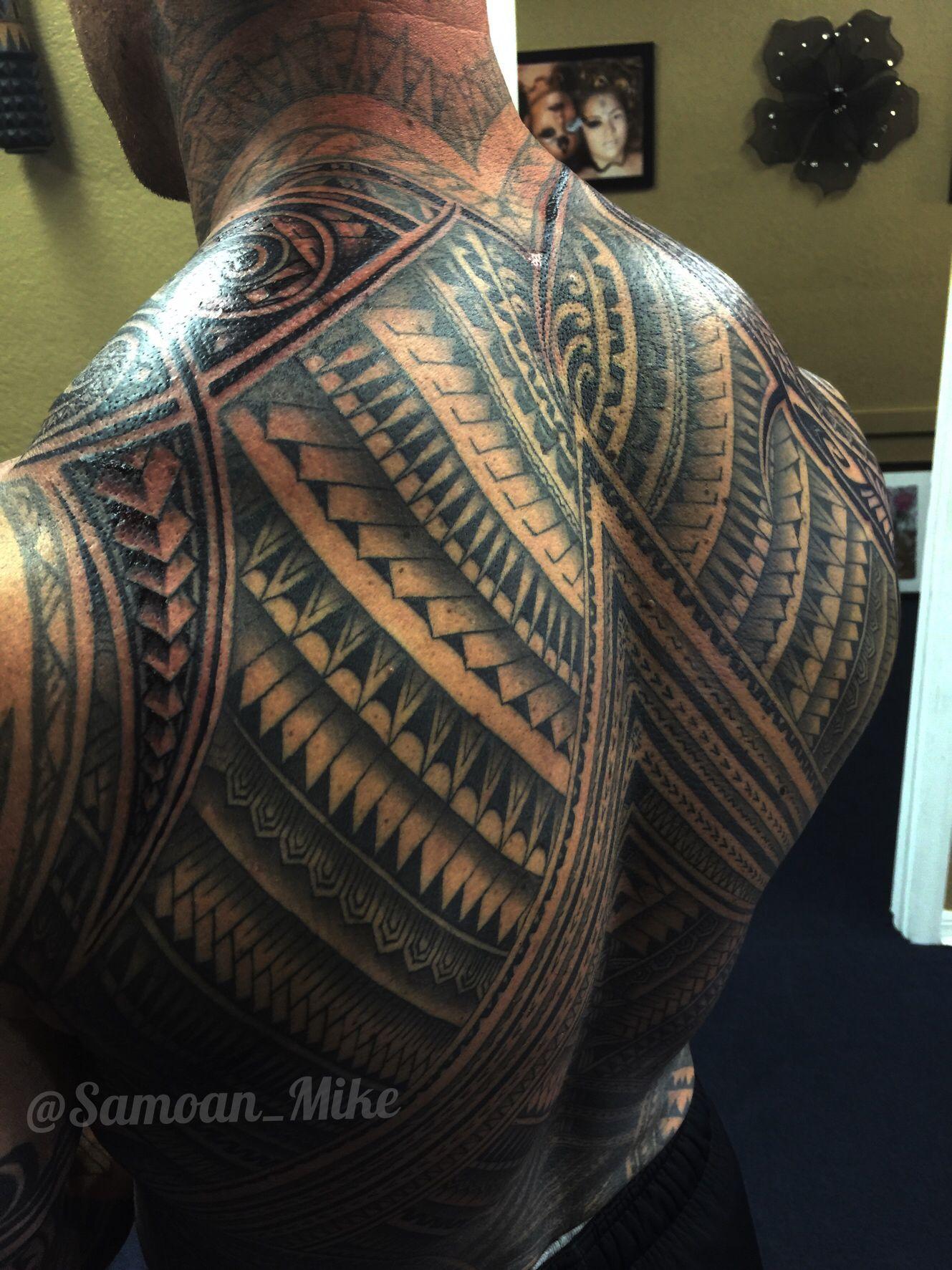 Polynesian Full Back Tattoos: Samoan Tattoo, Maori Tattoo, Back