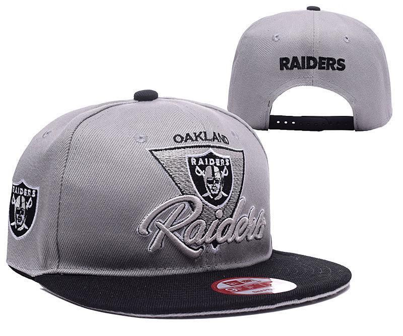 8bdb1108f Mens Oakland Raiders New Era High Crown Structured Fit NFL Chase Gray 2  Tone 9FIFTY Snapback Cap