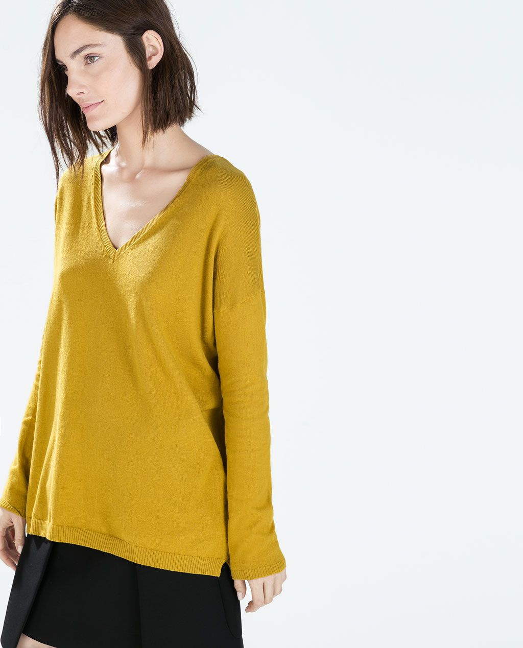 OVERSIZED V-NECK SWEATER from Zara