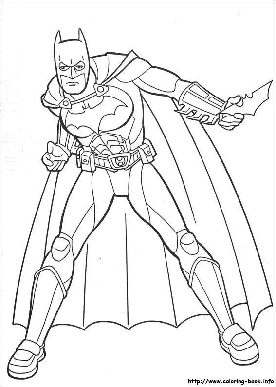 batman begins coloring pages - photo#15