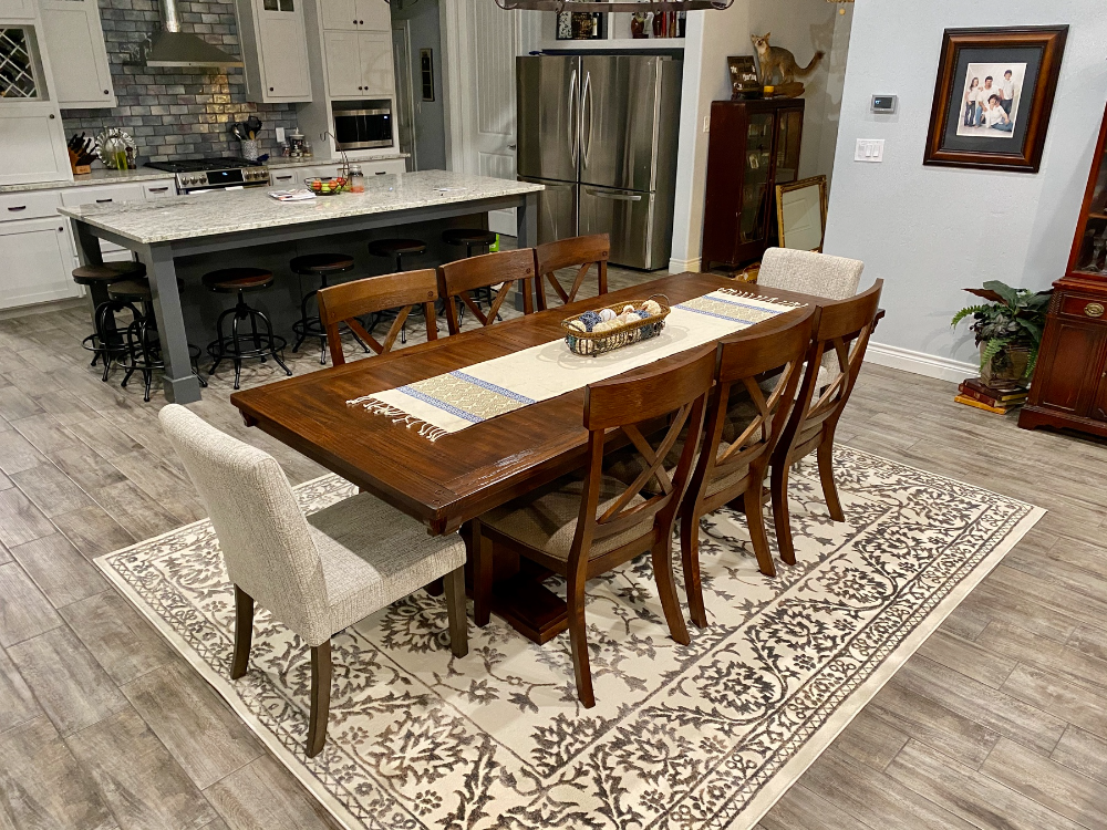 Dining Table Metal Chairs, Windville Dining Room Set