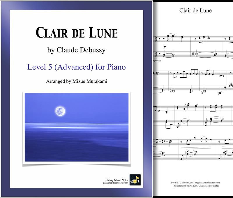 Clair De Lune Level 5 Piano Sheet Music With Images Piano
