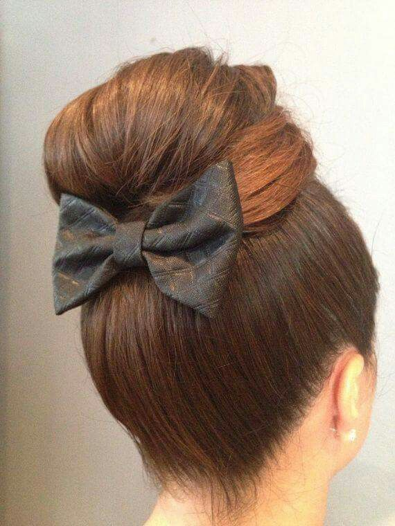 Bun Bow Black Hair Bows Hair Styles 60s Hair