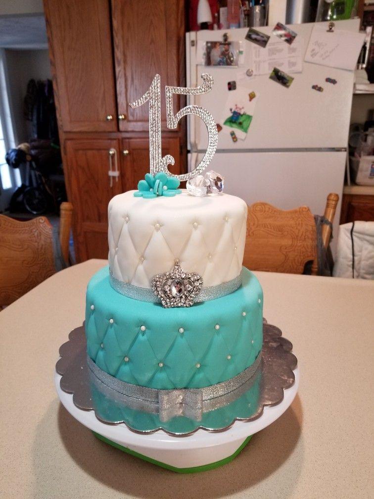 Glamourous 15th Birthday Cake Sweet 16 Birthday Cake 15th