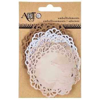 Tan White Kraft Paper Doilies With Images Paper Doilies Scrapbook Paper Crafts Doilies