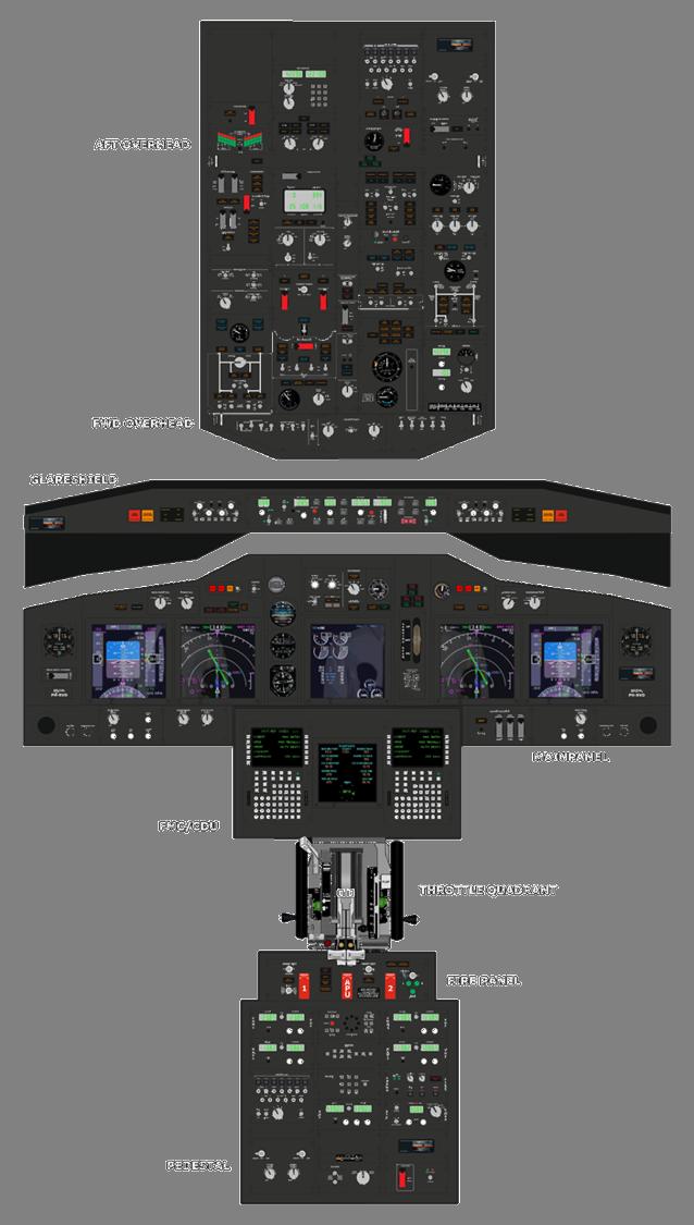 Manual Flight Simulator Cockpit Boeing 737 Cockpit Cockpit