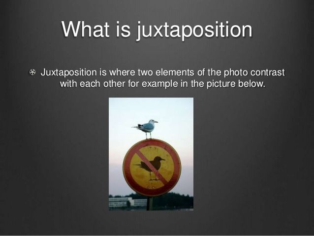 juxtaposition examples for kids