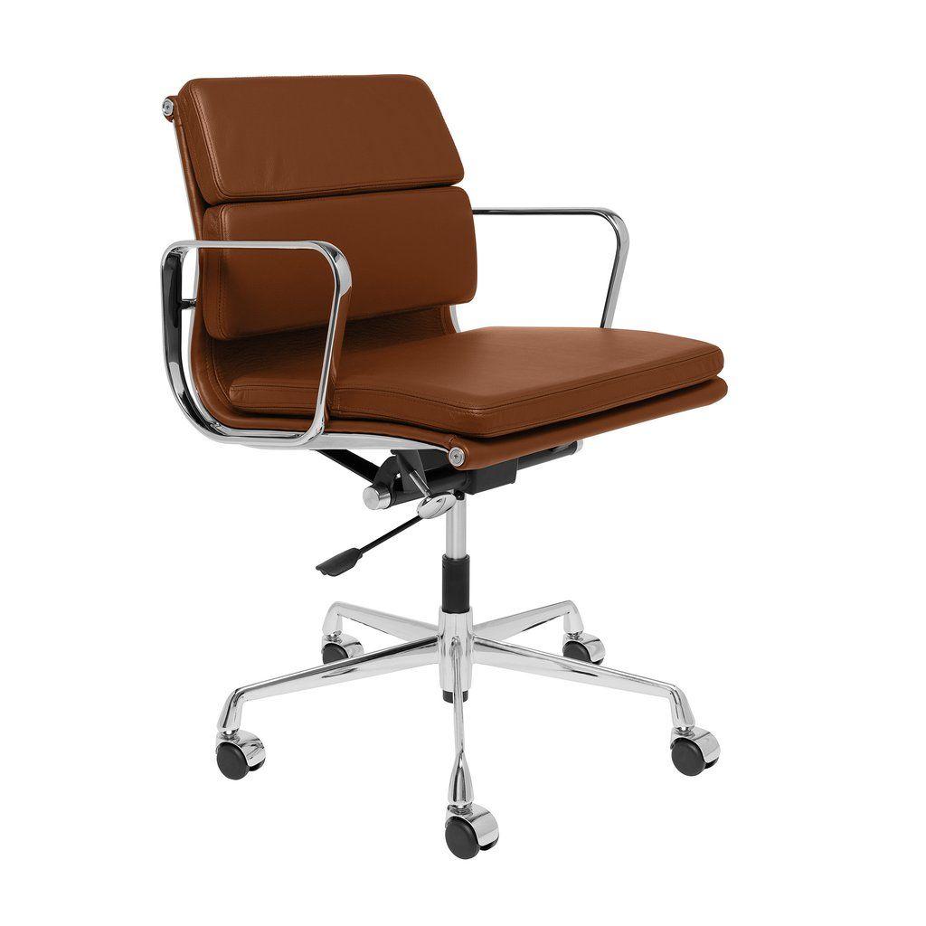 Soho premier soft pad management chair brown italian