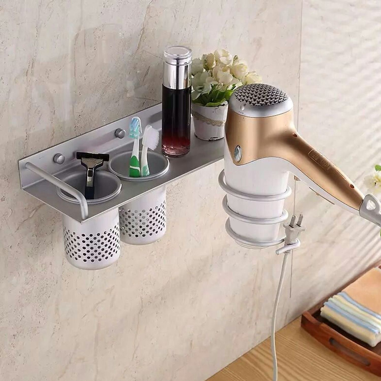 Wall Mount Dryer Holder Stand Rack Shelf Bathroom Storage Holder Hair Organizer