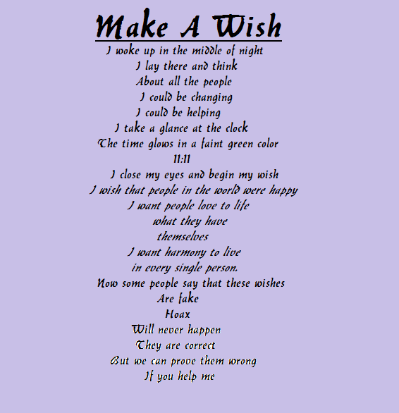 I Wish for You Poem | Make A Wish (A poem by me) by ...