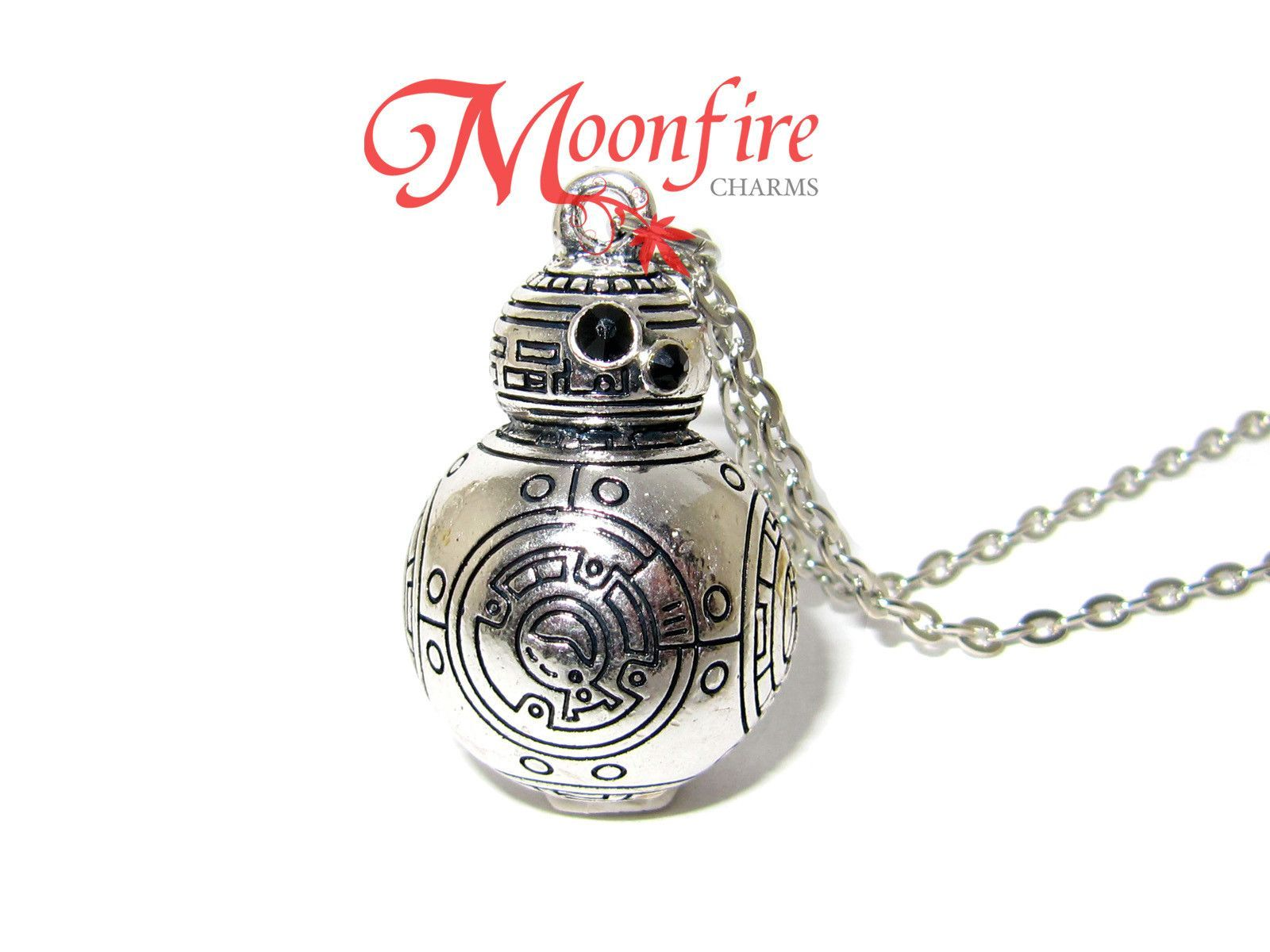 """Star Wars  BB-8 SILVERTONE Necklace WITH 20/"""" CHAIN"""
