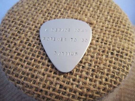 Personalized Guitar Pick, Hand Stamped Guitar Pick, Mens Guitar Pick, Customized Guitar Pick,  Engra #customguitars