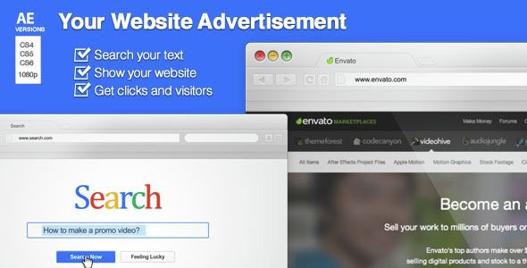 Your Website Advertisement Website and Template