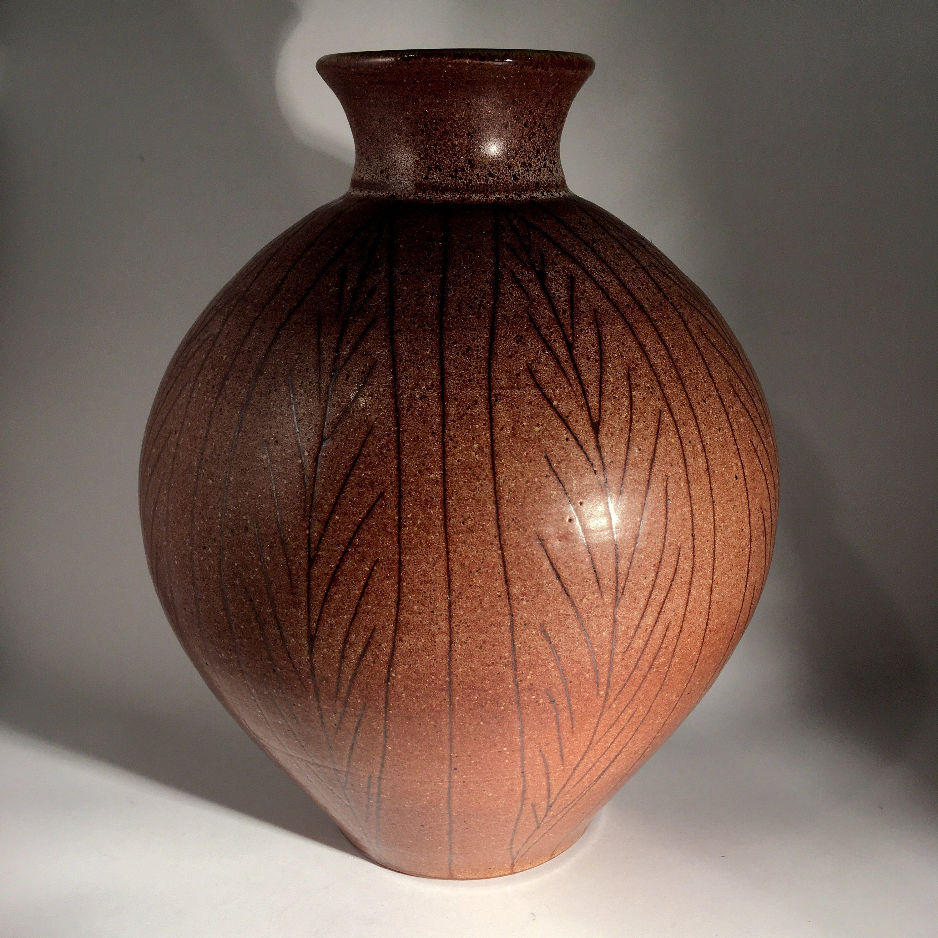 Bud Vase Studio Pottery Connie Pike Vintage Pike Pottery Candle Holder Brown on Beige Canadian Pottery Bob Pike