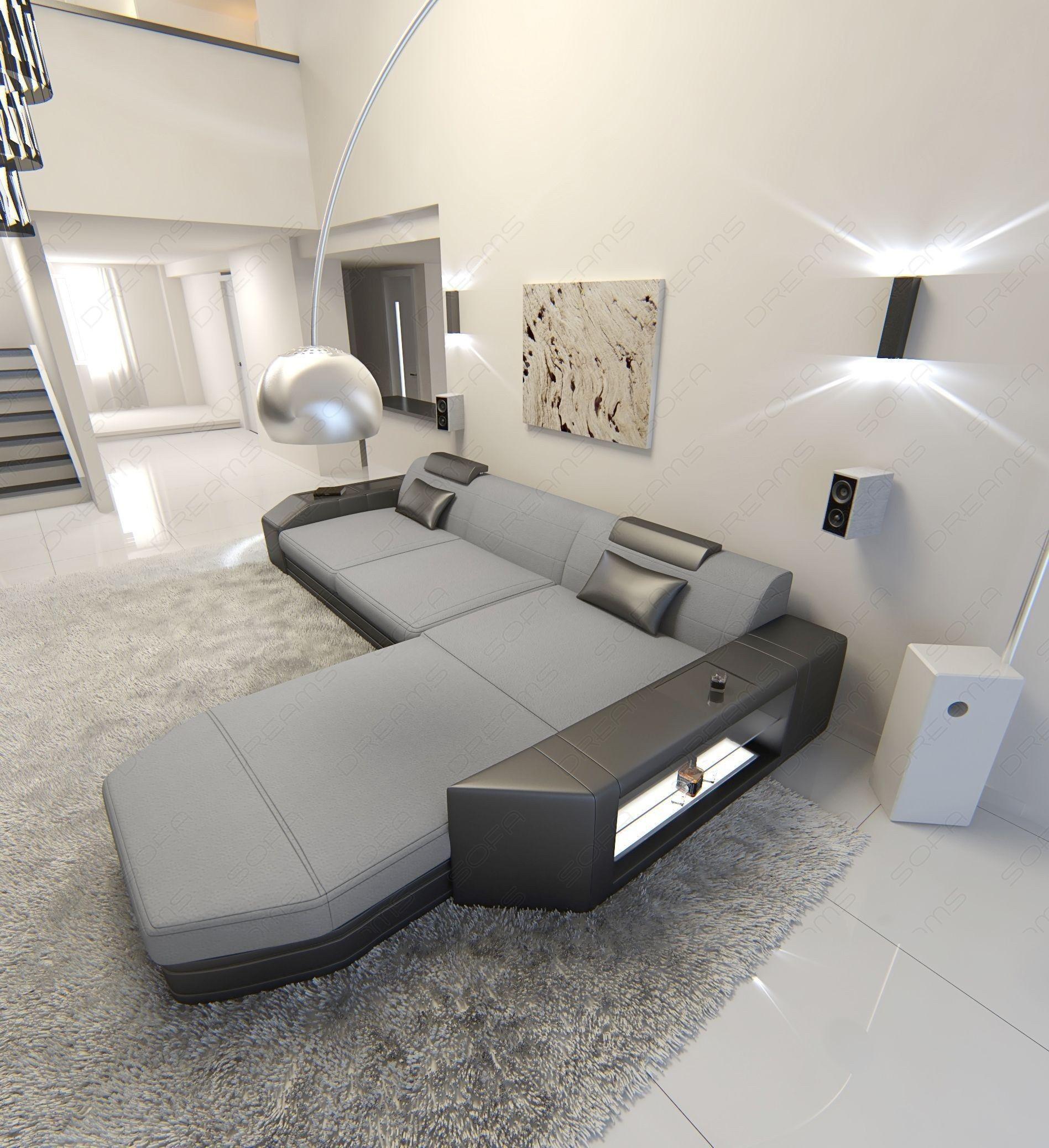 Modern Fabric Sofa Dallas LED L Shaped   Decor/home ideas ...