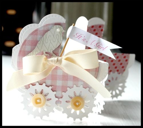 baby carriage trifold card