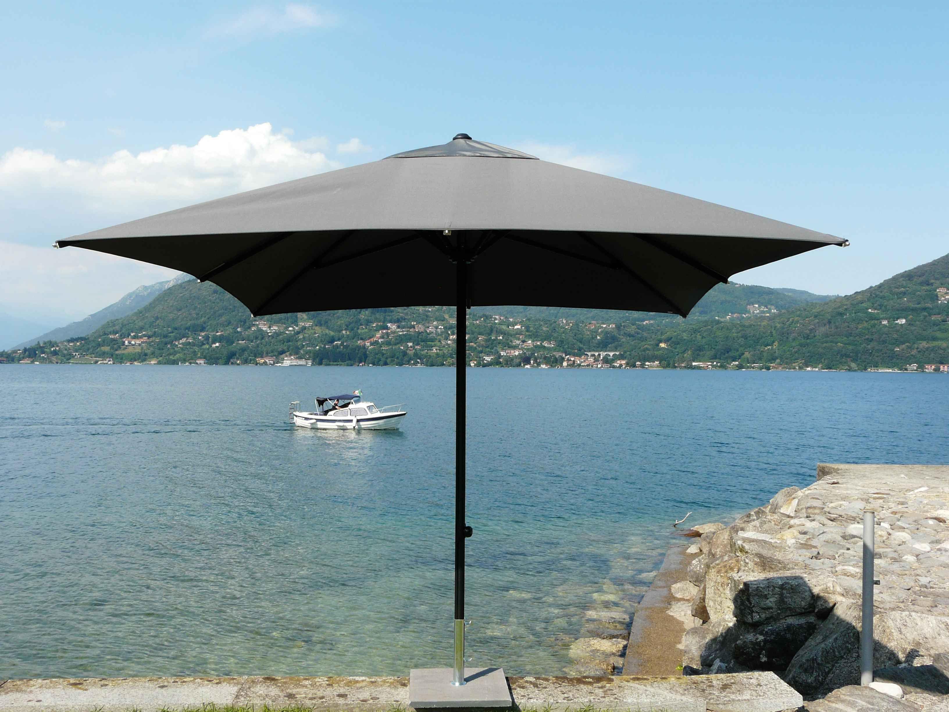 Parasol KRONOS Telescopique UV50+ Polyester 350x350/8 cm au meilleur prix ! - LeKingStore