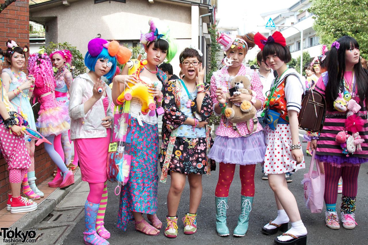A young fashion, is very strange in  Harajuku - Japan.