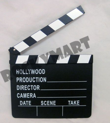 Movie Clapboard Clapper Prop Hollywood Production Director Camera Scene | eBay