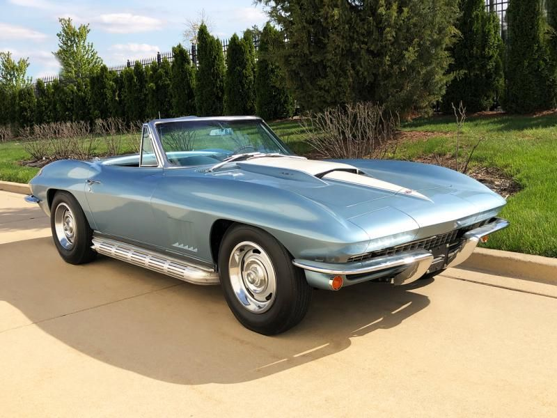 1967 Corvette Convertible For Sale In Illinois 1967 Elkhart Blue Big Block Convertible Corvette Convertible Corvette Camaro For Sale