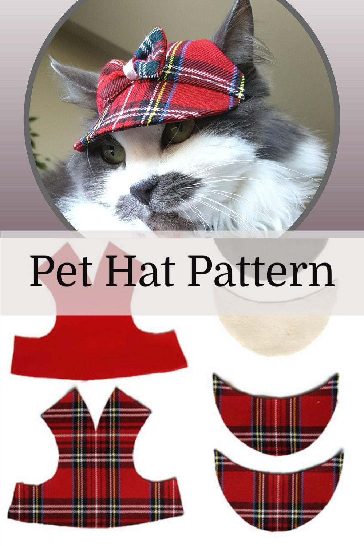Pet Hat Pdf Pet Clothing Pattern Cat Hat Patterns Cat Clothes For Cats Pet Clothes Pet Hat Pattern Pet Dog Cat Hat Pattern For Pet Size S In 2020 Pet Clothes