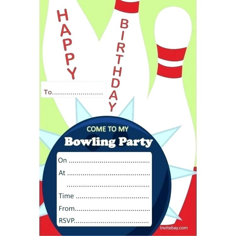 bowling party invitations blank