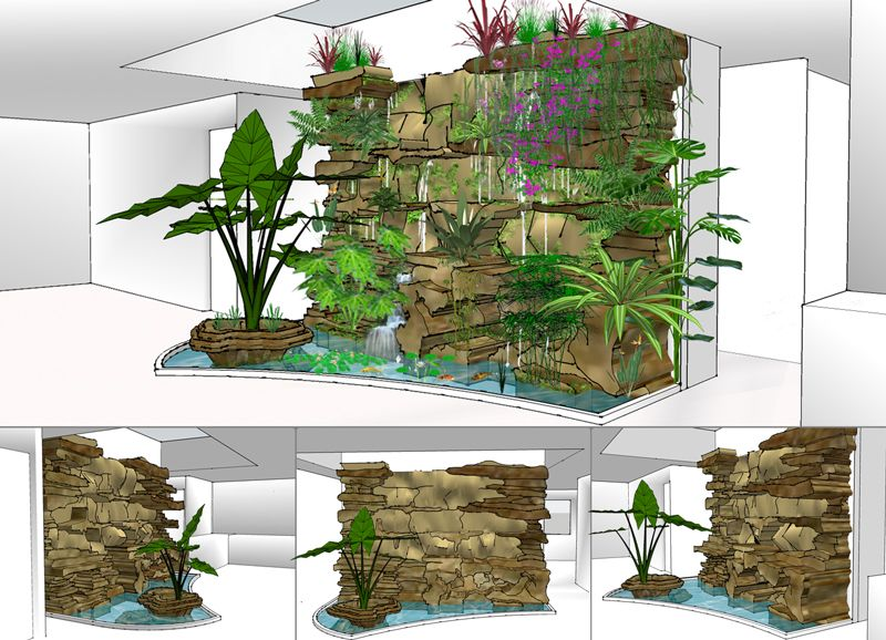 mur v g tal int rieur diy design pinterest google jard n vertical y acuario. Black Bedroom Furniture Sets. Home Design Ideas
