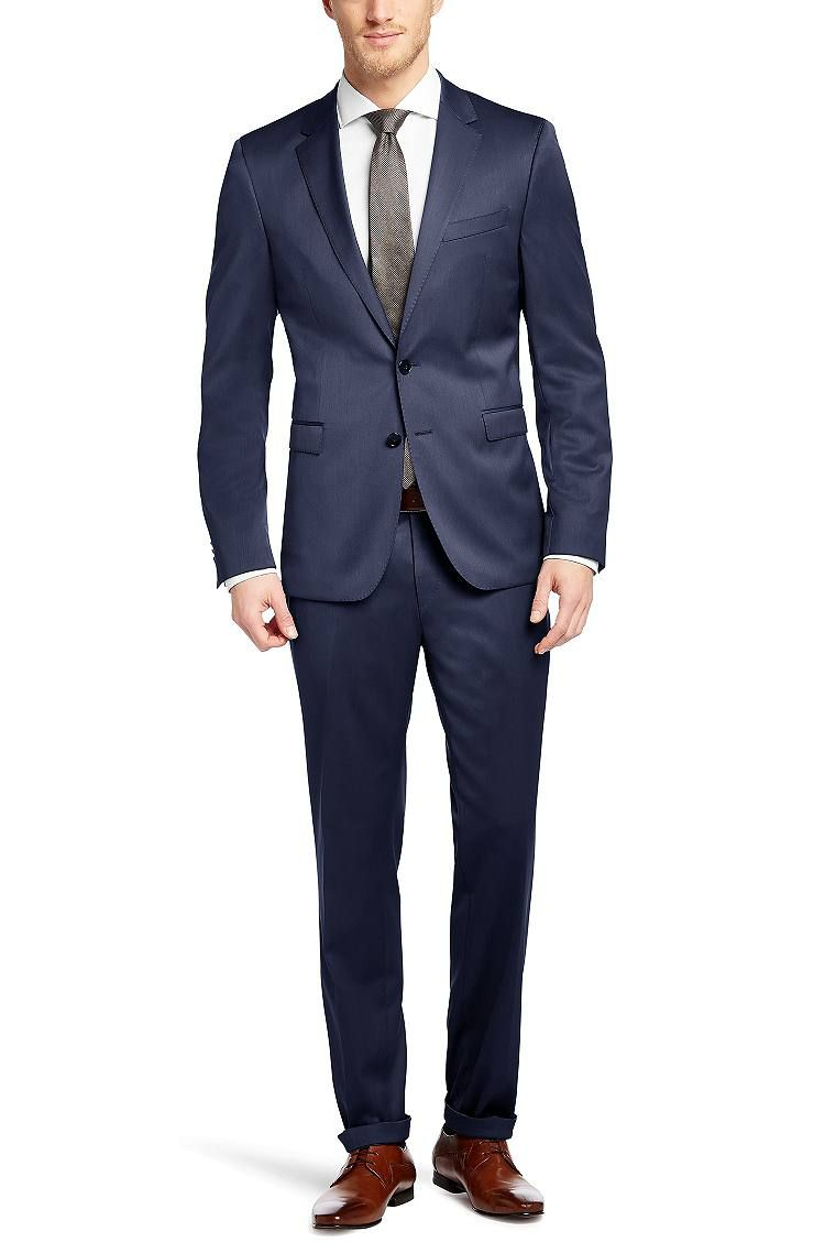 extra slim fit anzug ryan4 win2 aus schurwoll mix blau. Black Bedroom Furniture Sets. Home Design Ideas