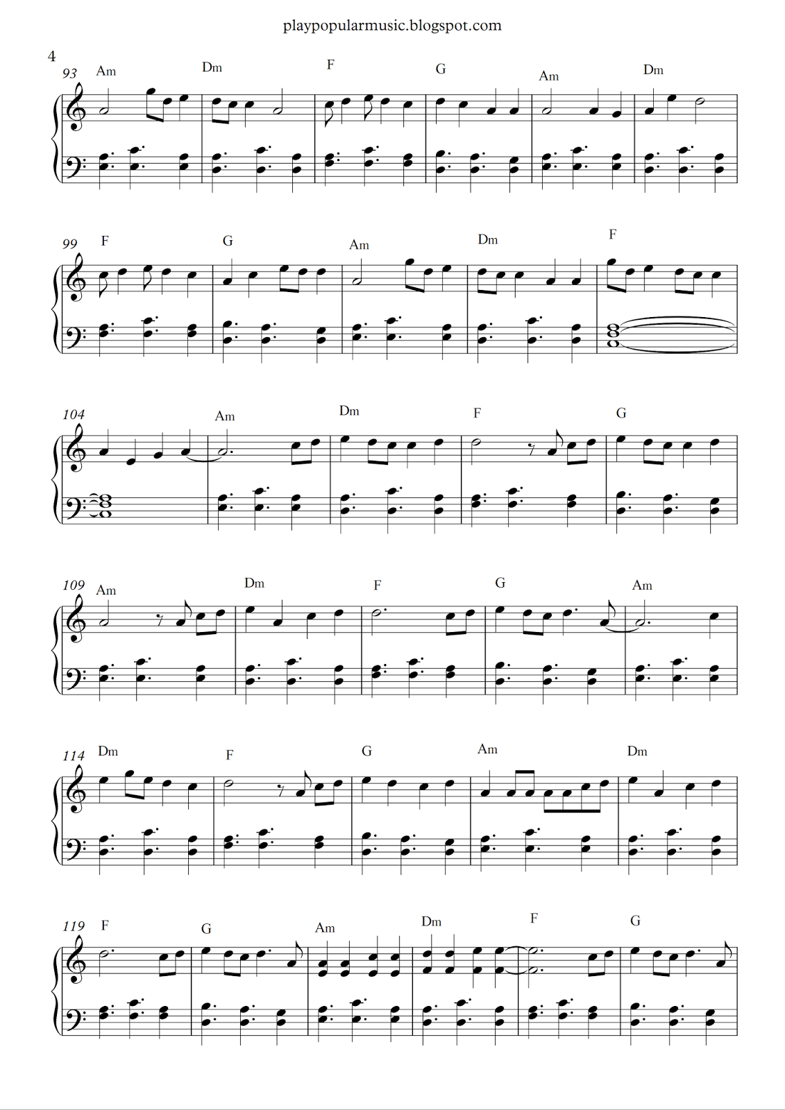 free piano sheet music shape of you ed your. Black Bedroom Furniture Sets. Home Design Ideas