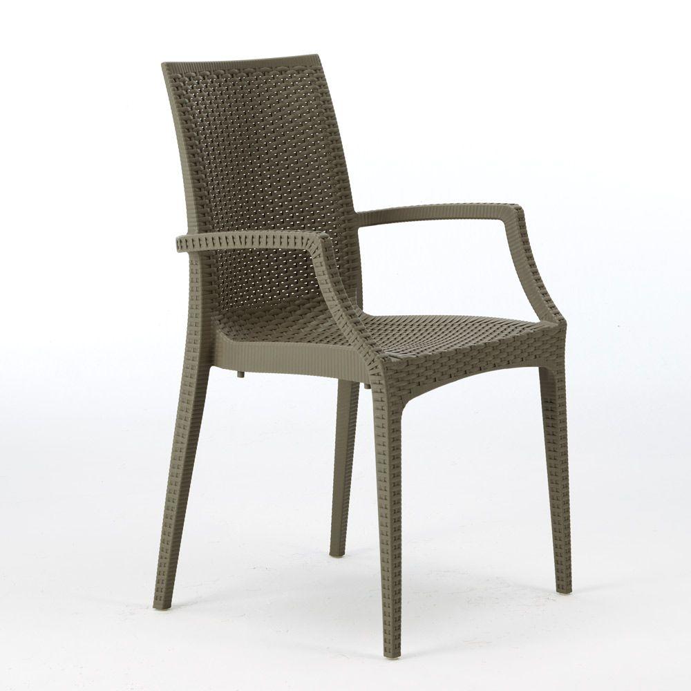 Sedie In Midollino.Sedie Poltrona Con Braccioli Bar Giardino Poly Rattan